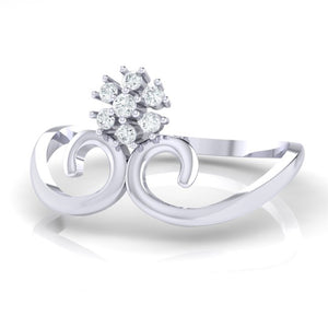 18Kt white gold real diamond ring 31(3) by diamtrendz