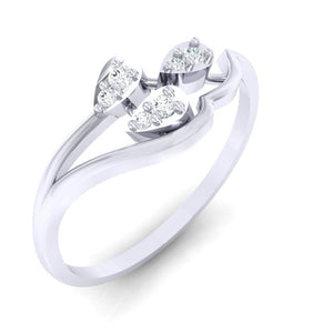 18Kt white gold real diamond ring 32(1) by diamtrendz