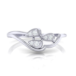 18Kt white gold real diamond ring 32(2) by diamtrendz