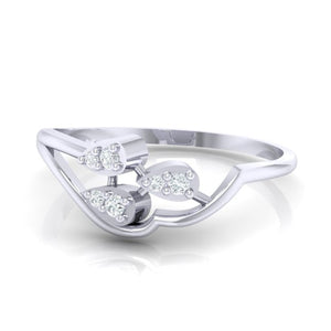 18Kt white gold real diamond ring 32(3) by diamtrendz