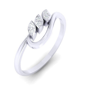 18Kt white gold real diamond ring 33(1) by diamtrendz