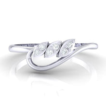 Load image into Gallery viewer, 18Kt white gold real diamond ring 33(2) by diamtrendz