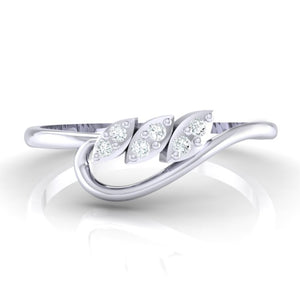 18Kt white gold real diamond ring 33(2) by diamtrendz