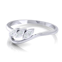 Load image into Gallery viewer, 18Kt white gold real diamond ring 33(3) by diamtrendz
