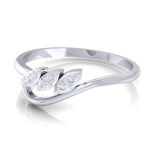 18Kt white gold real diamond ring 33(3) by diamtrendz