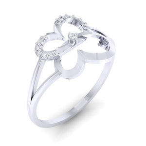 18Kt white gold real diamond ring 34(1) by diamtrendz