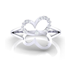 18Kt white gold real diamond ring 34(2) by diamtrendz