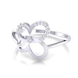 18Kt white gold real diamond ring 34(3) by diamtrendz