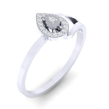 Load image into Gallery viewer, 18Kt white gold real diamond ring 35(1) by diamtrendz