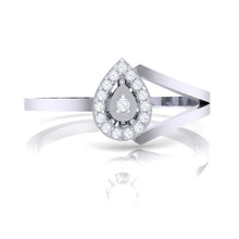 Load image into Gallery viewer, 18Kt white gold real diamond ring 35(2) by diamtrendz