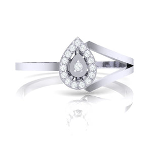 18Kt white gold real diamond ring 35(2) by diamtrendz