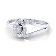 Load image into Gallery viewer, 18Kt white gold real diamond ring 35(3) by diamtrendz