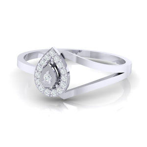 18Kt white gold real diamond ring 35(3) by diamtrendz