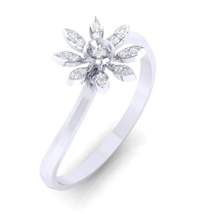 18Kt white gold real diamond ring 36(1) by diamtrendz