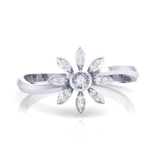 18Kt white gold real diamond ring 36(2) by diamtrendz