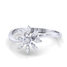 Load image into Gallery viewer, 18Kt white gold real diamond ring 36(3) by diamtrendz