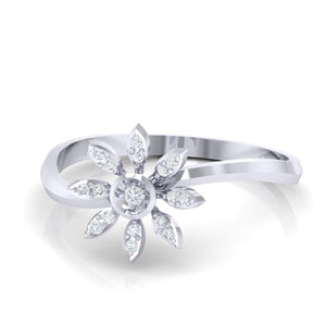 18Kt white gold real diamond ring 36(3) by diamtrendz