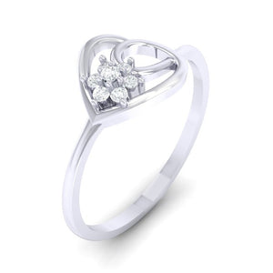 18Kt white gold real diamond ring 37(1) by diamtrendz