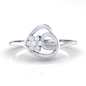 18Kt white gold real diamond ring 37(2) by diamtrendz