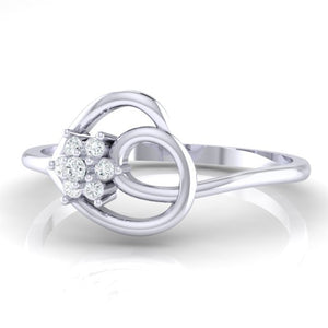 18Kt white gold real diamond ring 37(3) by diamtrendz