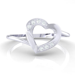 18Kt white gold real diamond ring 38(2) by diamtrendz