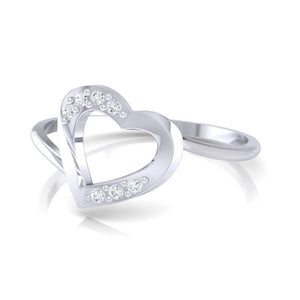 18Kt white gold real diamond ring 38(3) by diamtrendz