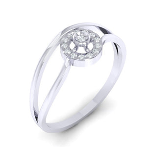 18Kt white gold real diamond ring 39(1) by diamtrendz