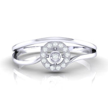 Load image into Gallery viewer, 18Kt white gold real diamond ring 39(2) by diamtrendz