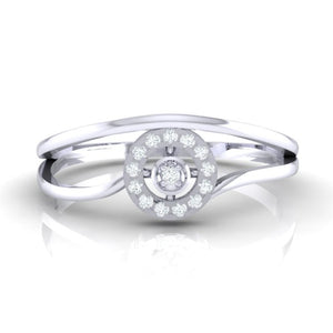 18Kt white gold real diamond ring 39(2) by diamtrendz