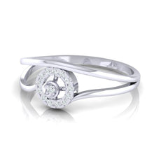 Load image into Gallery viewer, 18Kt white gold real diamond ring 39(3) by diamtrendz