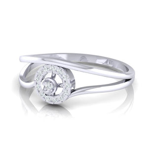 18Kt white gold real diamond ring 39(3) by diamtrendz