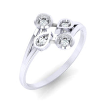 Load image into Gallery viewer, 18Kt white gold real diamond ring 40(1) by diamtrendz