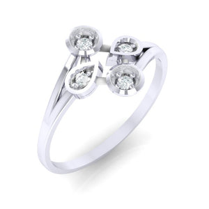 18Kt white gold real diamond ring 40(1) by diamtrendz