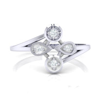 Load image into Gallery viewer, 18Kt white gold real diamond ring 40(2) by diamtrendz