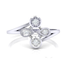 18Kt white gold real diamond ring 40(2) by diamtrendz