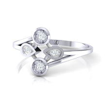 Load image into Gallery viewer, 18Kt white gold real diamond ring 40(3) by diamtrendz