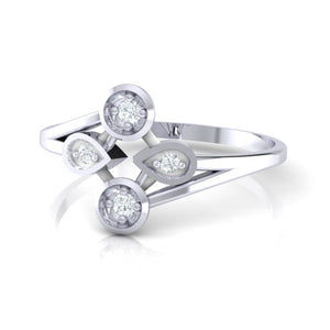 18Kt white gold real diamond ring 40(3) by diamtrendz