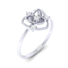 Load image into Gallery viewer, 18Kt white gold real diamond ring 41(1) by diamtrendz