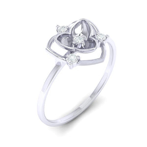 18Kt white gold real diamond ring 41(1) by diamtrendz