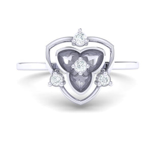 18Kt white gold real diamond ring 41(2) by diamtrendz