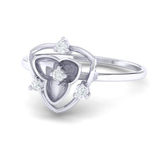Load image into Gallery viewer, 18Kt white gold real diamond ring 41(3) by diamtrendz