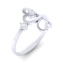 Load image into Gallery viewer, 18Kt white gold real diamond ring 42(1) by diamtrendz