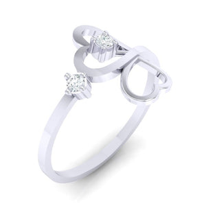 18Kt white gold real diamond ring 42(1) by diamtrendz