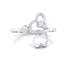 Load image into Gallery viewer, 18Kt white gold real diamond ring 42(2) by diamtrendz