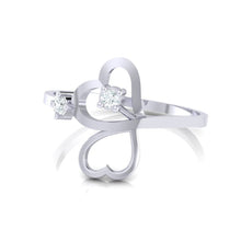 Load image into Gallery viewer, 18Kt white gold real diamond ring 42(3) by diamtrendz