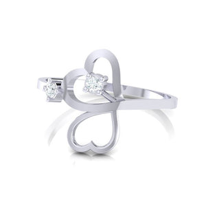 18Kt white gold real diamond ring 42(3) by diamtrendz