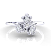 Load image into Gallery viewer, 18Kt white gold real diamond ring 43(2) by diamtrendz