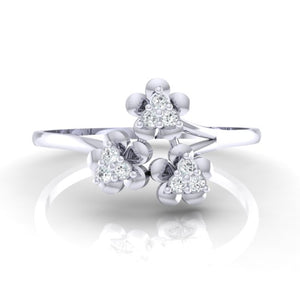18Kt white gold real diamond ring 43(2) by diamtrendz