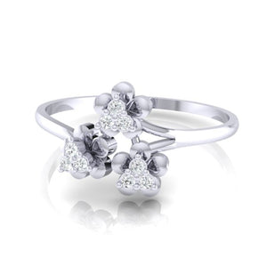 18Kt white gold real diamond ring 43(3) by diamtrendz