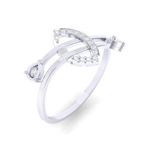 18Kt white gold real diamond ring 44(1) by diamtrendz